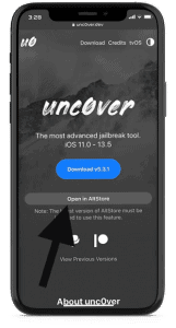 فتح تطبيق Unc0ver في AltStore