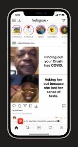 لقطة شاشة من داخل تطبيق Rocket for Instagram